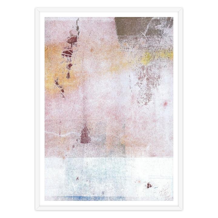 artvoll - Abstract No. 1 Poster mit Rahmen, weiß