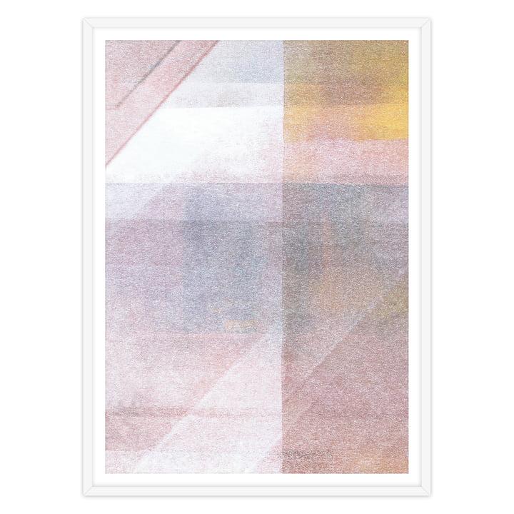 artvoll - Abstract No.2 Poster mit Rahmen, weiß