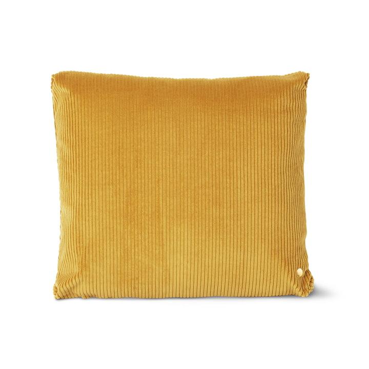 Corduroy Kissen, 45 x 45 cm, golden olive von ferm Living
