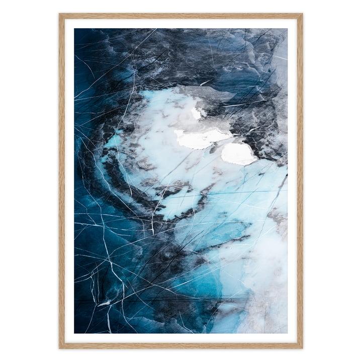 artvoll - Arctic II Poster mit Rahmen, Eiche natur