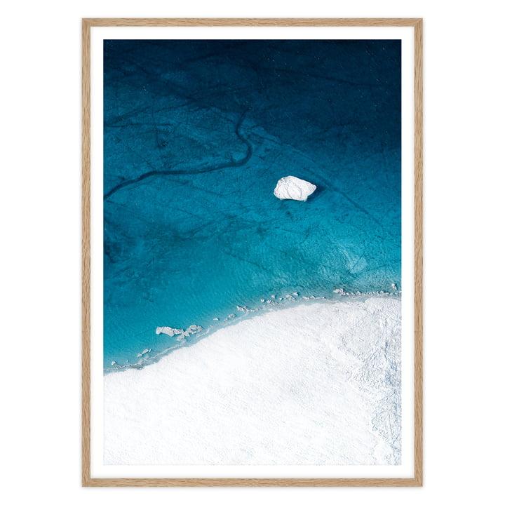 Artvoll - Arctic I Poster mit Rahmen, Eiche natur