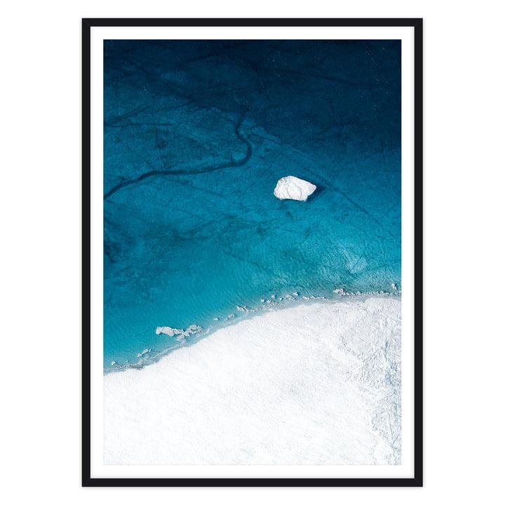 artvoll - Arctic I Poster mit Rahmen, schwarz