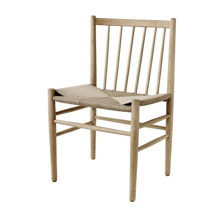 J80 Stuhl, Eiche matt lackiert / Naturgeflecht von FDB Møbler