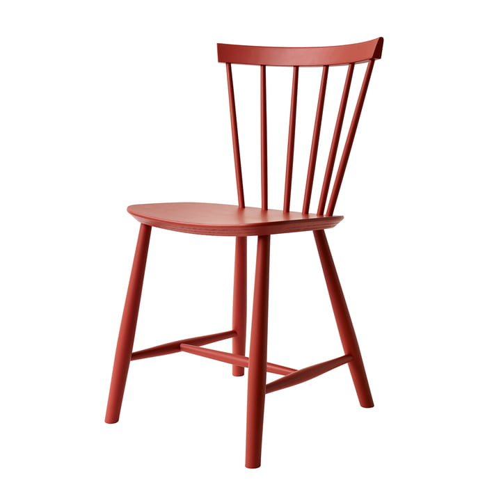 J46 Stuhl, Buche rot von FDB Møbler