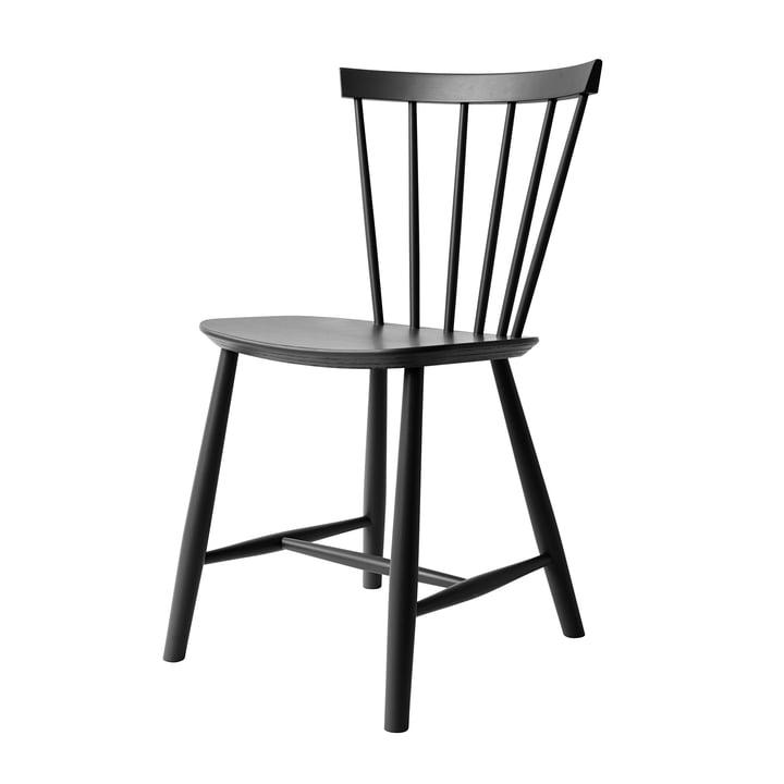 J46 Stuhl, Buche schwarz von FDB Møbler
