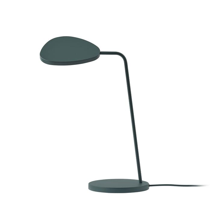 Leaf LED-Tischleuchte von Muuto in dunkelgrün