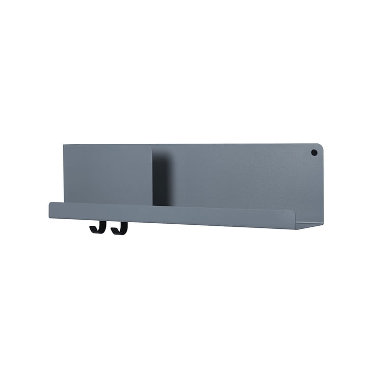 Folded Shelves 63 x 16,5 cm von Muuto in blau-grau
