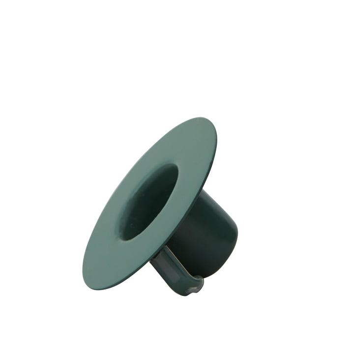 Kerzenhalterung für AJ Porzellan Mini-Becher und Vase von Design Letters in dunkelgrün