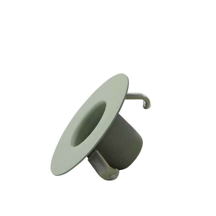 Kerzenhalterung für AJ Porzellan Mini-Becher und Vase von Design Letters in grün