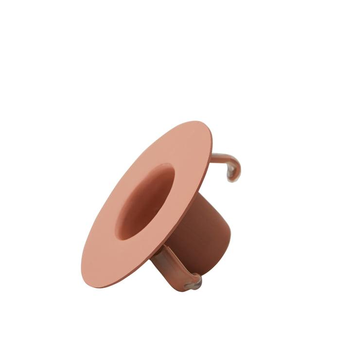 Kerzenhalterung für AJ Porzellan Mini-Becher und Vase von Design Letters in nude
