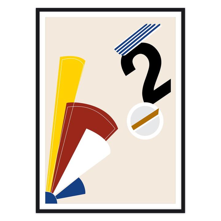 artvoll - Numeric II Poster mit Rahmen, schwarz