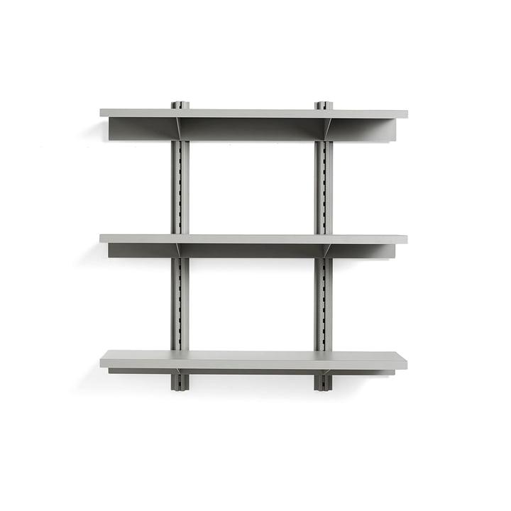 Standard Issue Wandregal 3 Regalböden 120 cm von Hay in sky grey