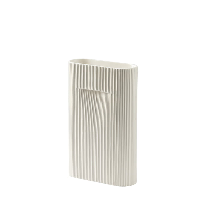 Ridge Vase H 35 cm von Muuto in off-white