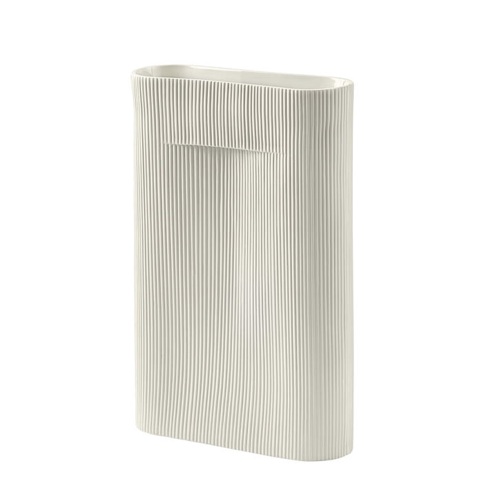 Ridge Vase H 48,5 cm von Muuto in off-white