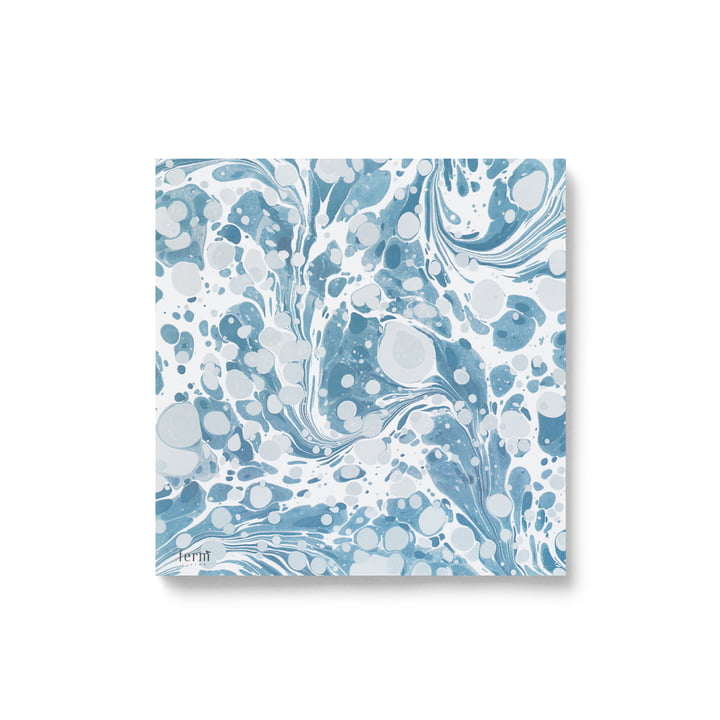 Papierservietten marmoriert von ferm Living in dusty blue (20 stk.)