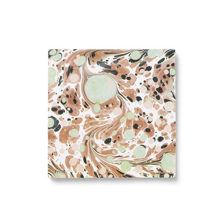 Papierservietten marmoriert von ferm Living in rust (20 stk.)