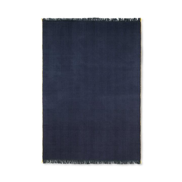 Herringbone Decke 120 x 180 cm von ferm Living in dunkelblau