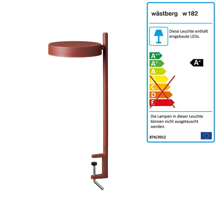 w182 Pastille LED Klemmleuchte c2 von Wästberg in oxidrot