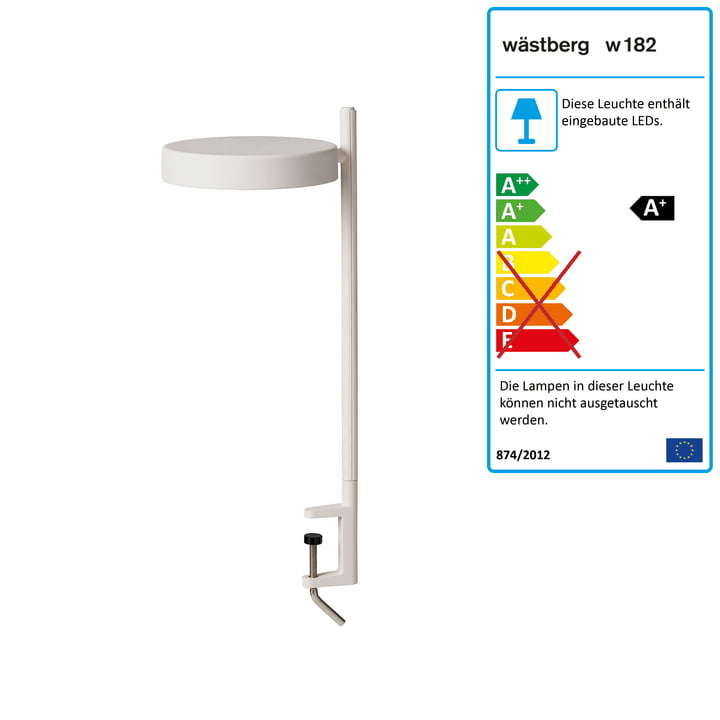 w182 Pastille LED Klemmleuchte c2 von Wästberg in soft white