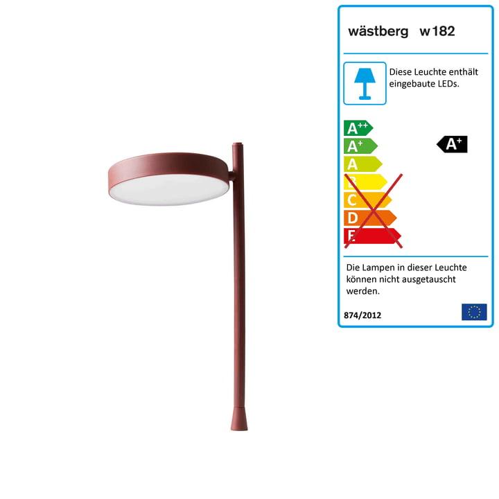 w182 Pastille LED Tischleuchte p2 von Wästberg in oxidrot