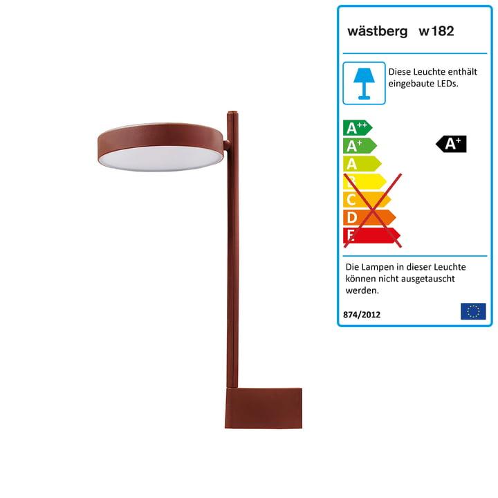 w182 Pastille LED Wandleuchte br2 von Wästberg in oxidrot