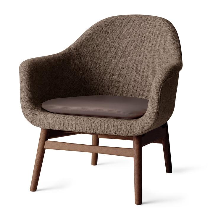 Menu - Harbour Louge Chair, Gestell Eiche dunkel gebeizt, Savanna 262 / Kissen Nuance 40783