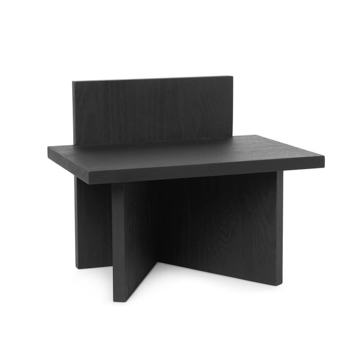 Oblique Hocker/ Ablage von ferm Living in Esche schwarz