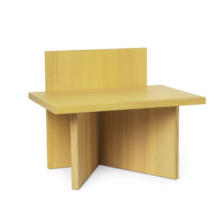 Oblique Hocker/ Ablage von ferm Living in Esche gelb