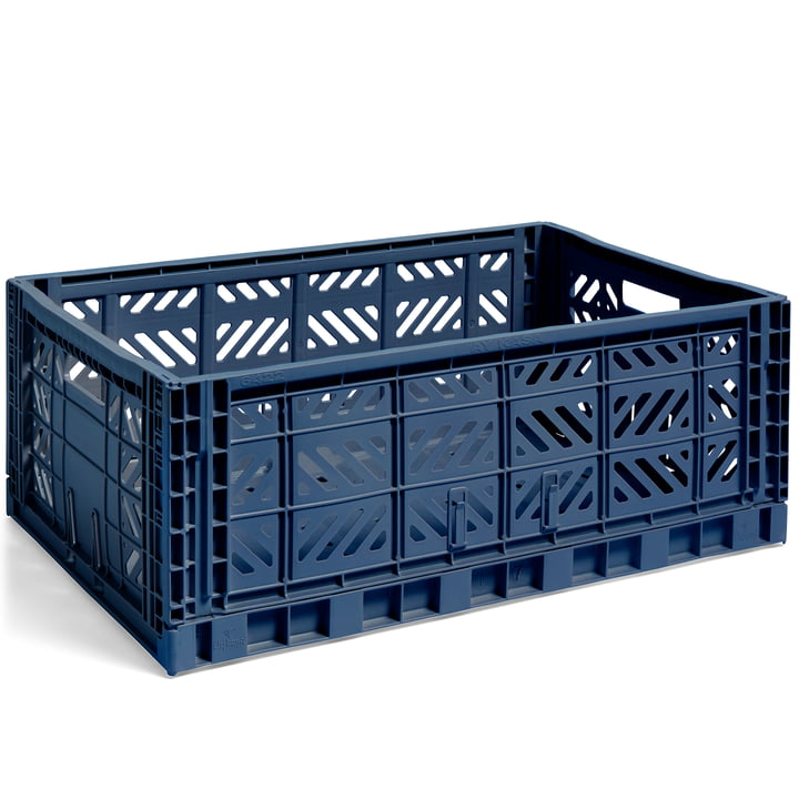 Colour Crate Korb L, 60 x 40 cm von Hay in navy