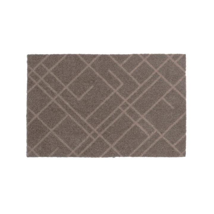 Lines Fußmatte 40 x 60 cm von tica copenhagen in sand / beige
