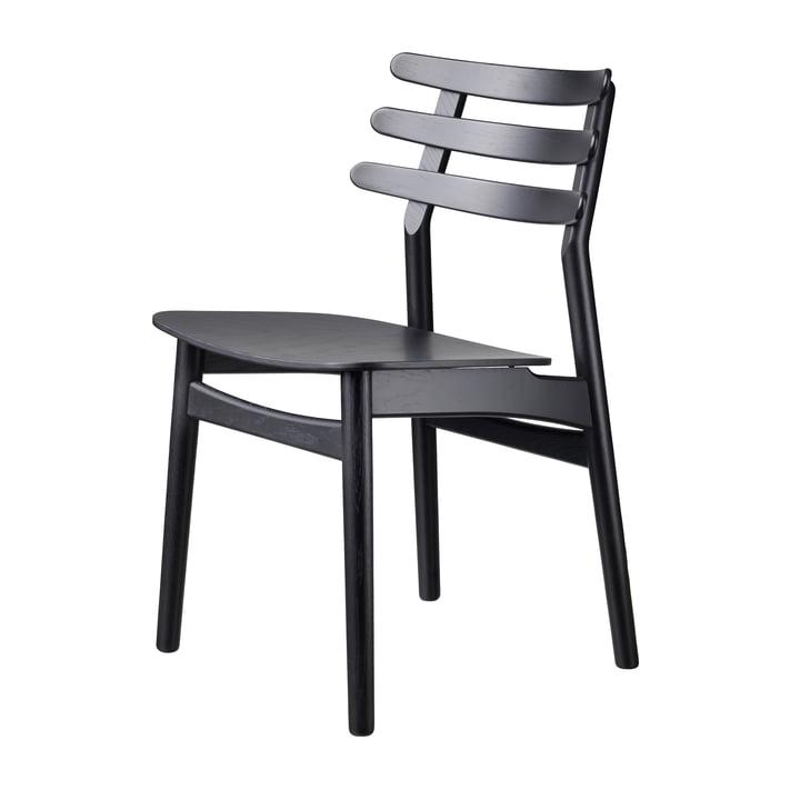 J48 Stuhl, Eiche schwarz lackiert von FDB Møbler