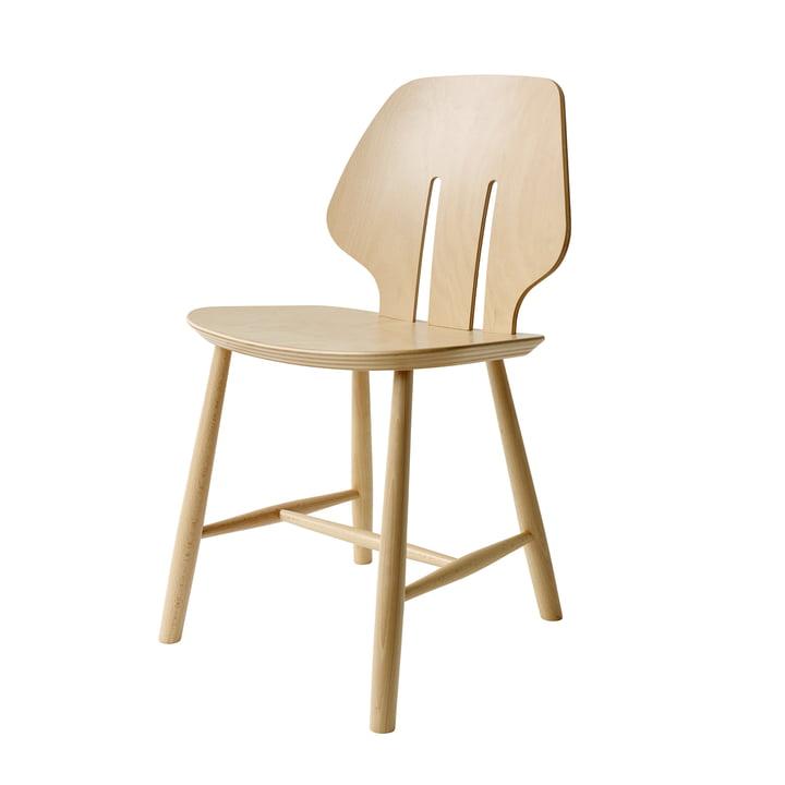 J67 Stuhl, Buche klar lackiert (weiß pigmentiert) von FDB Møbler