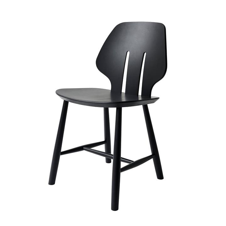 J67 Stuhl, Buche schwarz lackiert von FDB Møbler