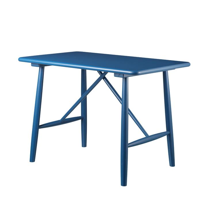 P10 Kindertisch von FDB Møbler in Birke blau lackiert