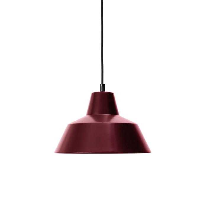 Workshop Lamp W2, weinrot / schwarz von Made by Hand
