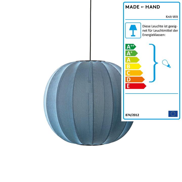 Knit-Wit Pendelleuchte Ø 60 cm, stone blue von Made by Hand
