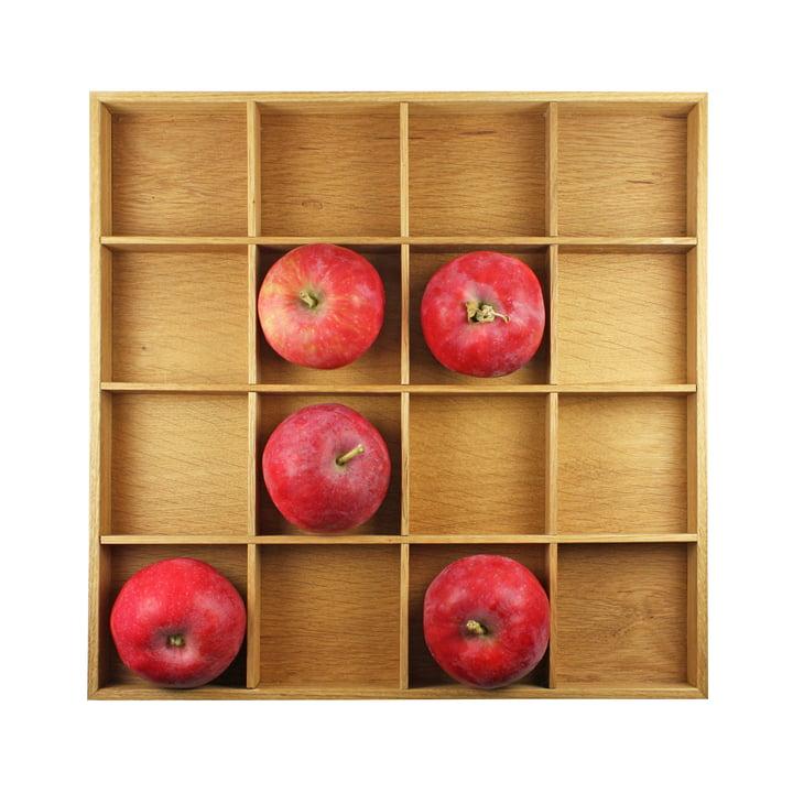 Apfelkasten, 31 x 31 cm, Eiche hell geölt von Raumgestalt