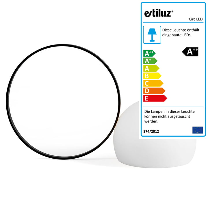 Circ LED Akku-Tischleuchte M-3727 von Estiluz in schwarz