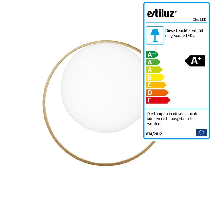 Circ LED Wandleuchte von Estiluz in gold