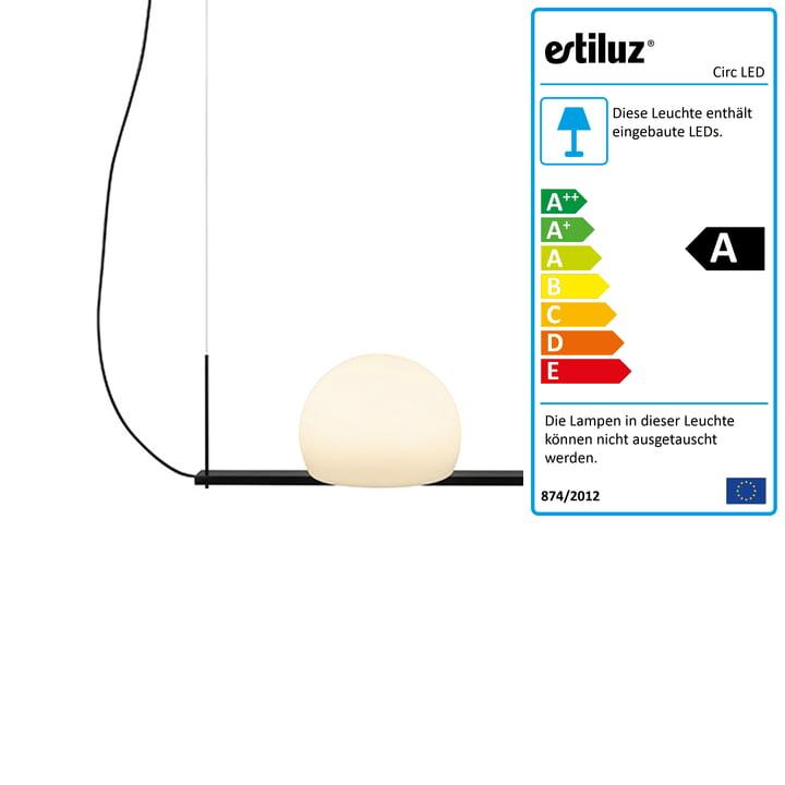 Circ LED Pendelleuchte 40 cm von Estiluz in schwarz
