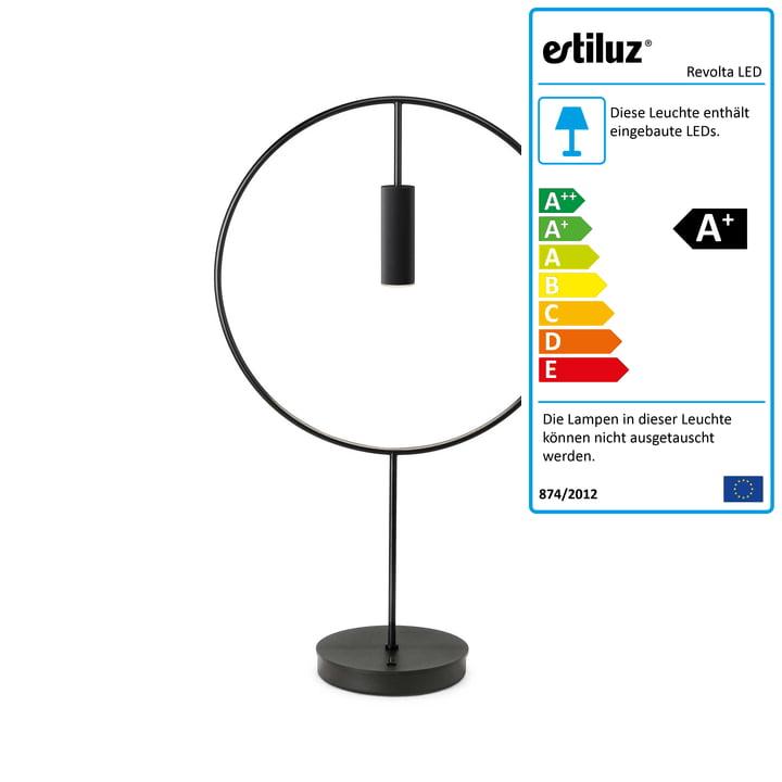 Revolta LED Tischleuchte 2700K von Estiluz in schwarz
