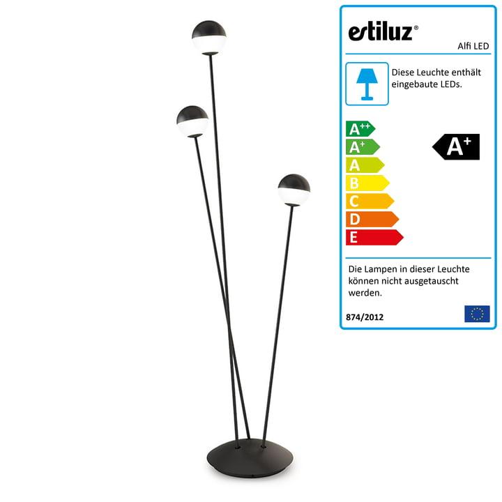 Alfi LED Stehleuchte von Estiluz in schwarz