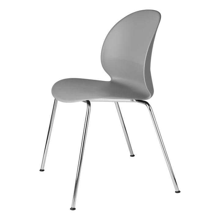 N02 Recycle Stuhl von Fritz Hansen in Chrom / grau