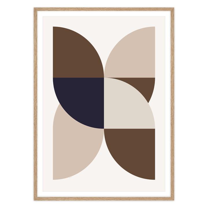 artvoll - X Poster mit Rahmen, Eiche natur