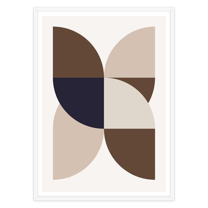 artvoll - X Poster mit Rahmen, weiß
