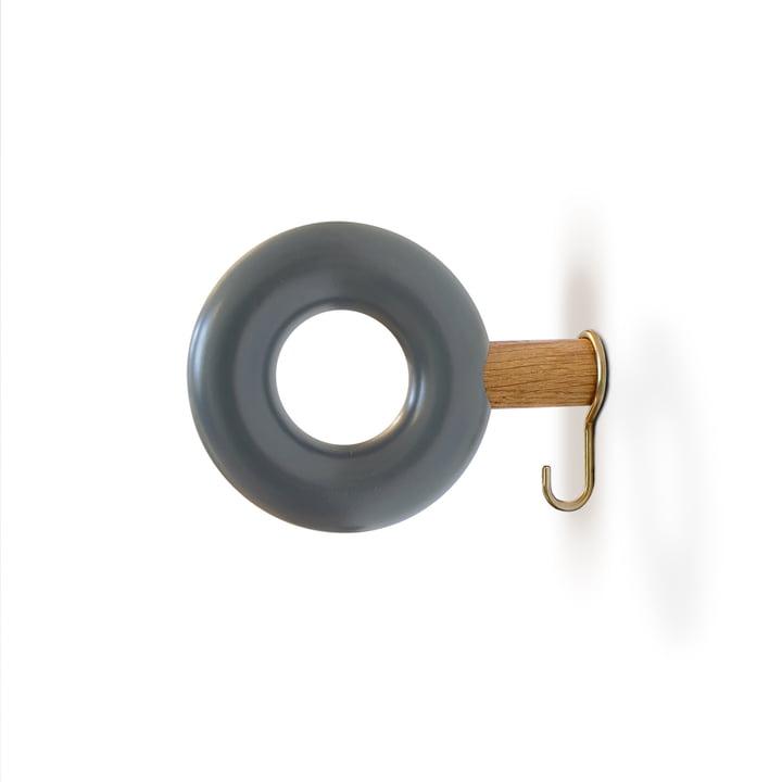 Wandhaken ONO 9 cm von vonbox in grau