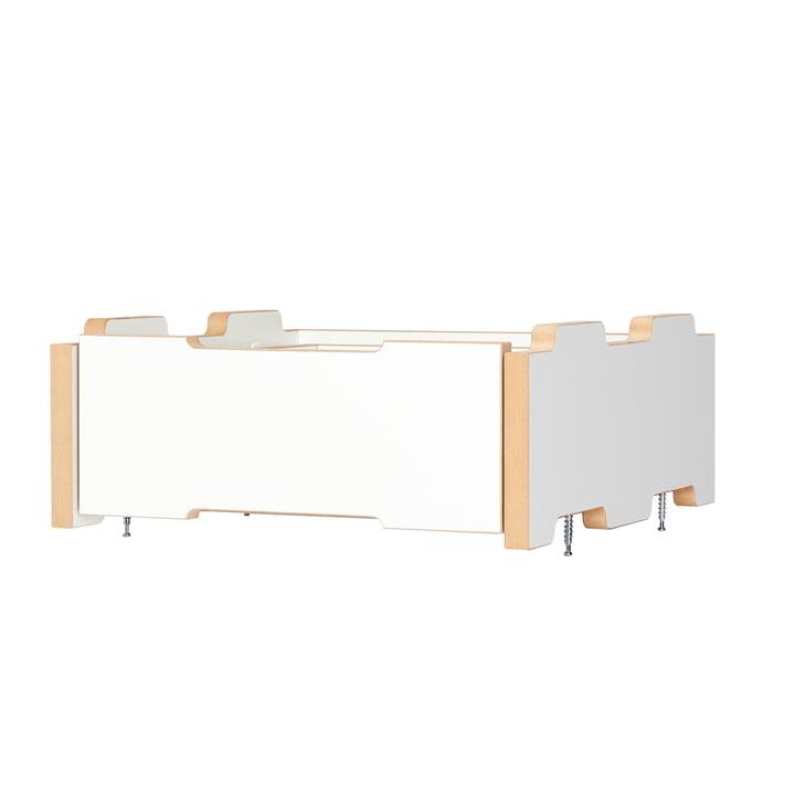 cargo Rollcontainer Anbaumodul von Tojo in weiß