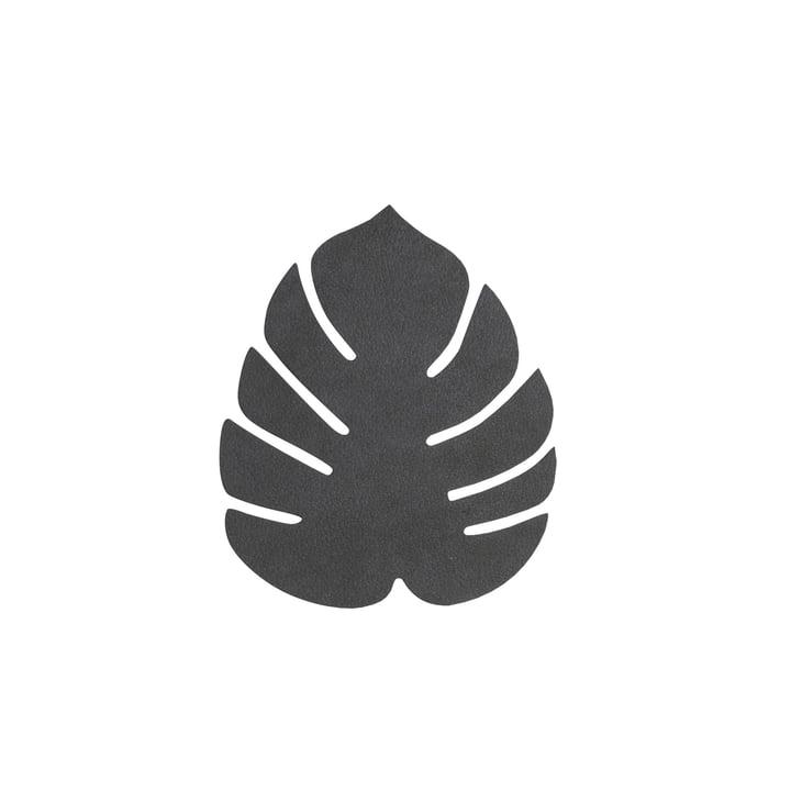 Glasuntersetzer Monstera von LindDNA in Nupo schwarz