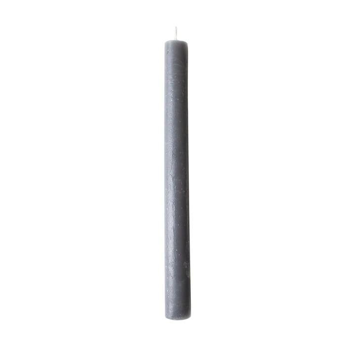 2.2 cm Stabkerze in Dunkelgrau