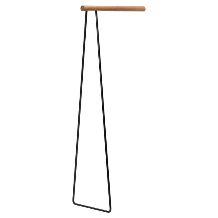 Clothes Rack Wall Garderobenständer von LindDNA in Stahl schwarz / Eiche Natur